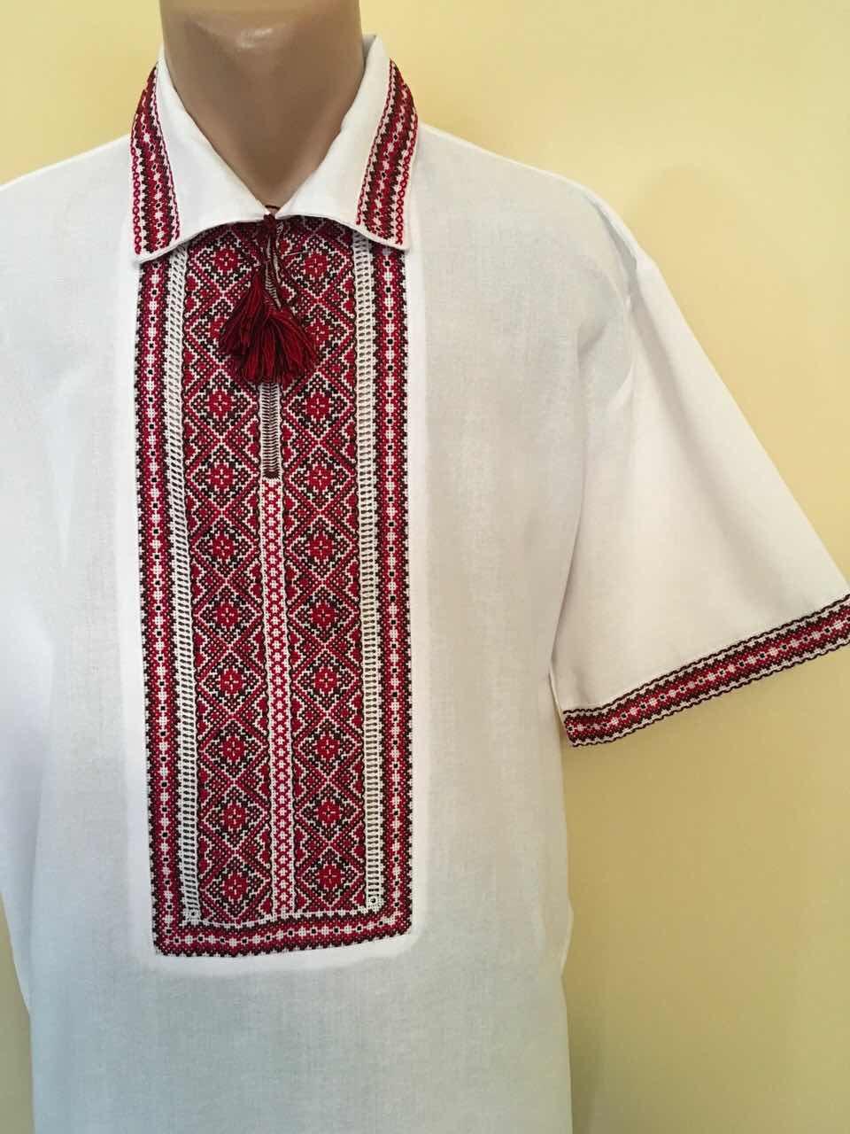 Літня вишита сорочка на комірець ручної роботи 54-56 розмір  продажа ... b9974f7d1d930