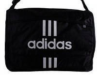 Стильная спортивная сумка с логотипом ADIDAS полиэстер 303253 черная