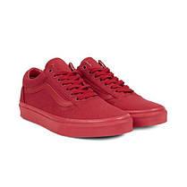 Кеды мужские Vans Old Skool Crimson красные топ реплика, фото 3