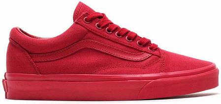 Кеды мужские Vans Old Skool Crimson красные топ реплика, фото 2