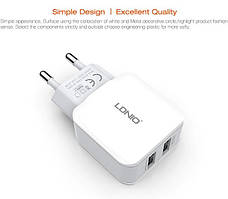 DL-2202 USB home charger (2.1 A)+lightning cable, LDNIO