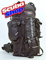 Рюкзак туристический каркасный TREKKING COLOR LIFE 65 л, цвет черный