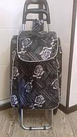 Хозяйственная сумка - тележка на металлических колесах