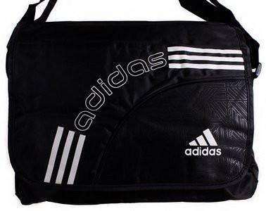 Мужская сумка в стиле Адидас реплика 303273 черная