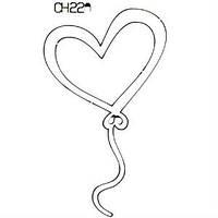 Чипборд Воздушный шар Сердце