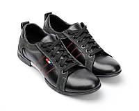 Мужские туфли  кожаные «спорт-комфорт»1370элч