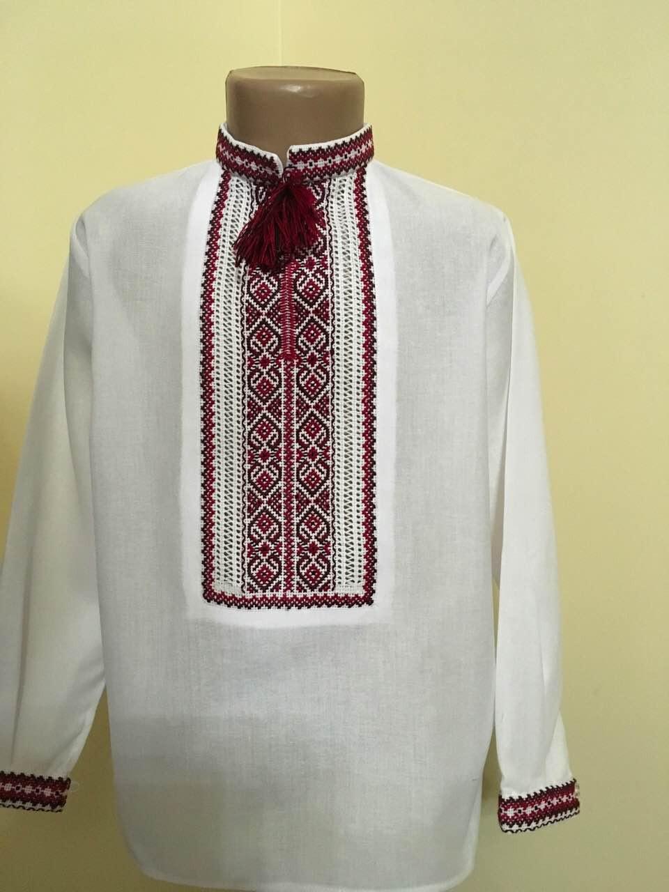 Вишиванка біла для хлопчика ручної роботи 9-10 років - Скарбниця Карпат- інтернет  магазин 4f61537757903