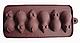 Силиконовая форма для шоколада Мышки на 6 ячеек, фото 2