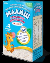"""Молочная сухая смесь """"Малыш"""" с рисовой мукой с 4 месяцев (350 гр.)"""