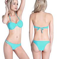Купальник раздельный бикини в стиле Victorias secret голубой М