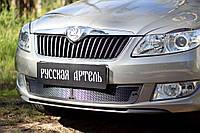 Защитная сетка переднего бампера Skoda Fabia II 2010-2013 г.в. Шкода Фабиа