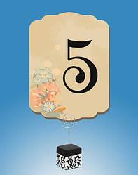Свадебные номерки на столы, подставки под номерки