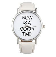 Кварцевые наручные женские часы (белые)