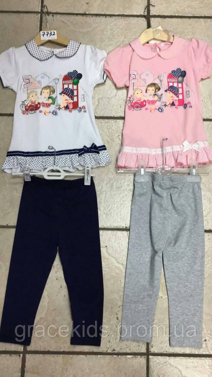 Детский летний костюм для девочек малюток