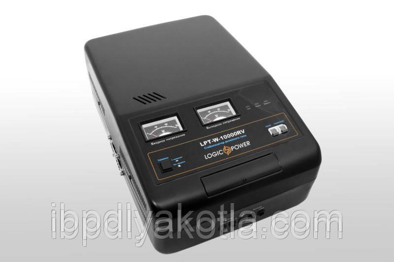 Стабилизатор напряжения Logicpower LPT-W-10000RV (7000Вт) Черный