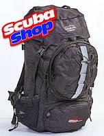 Рюкзак туристический каркасный TREKKING COLOR LIFE 75 л, цвет черный