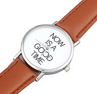 Кварцевые наручные женские часы (коричневые)