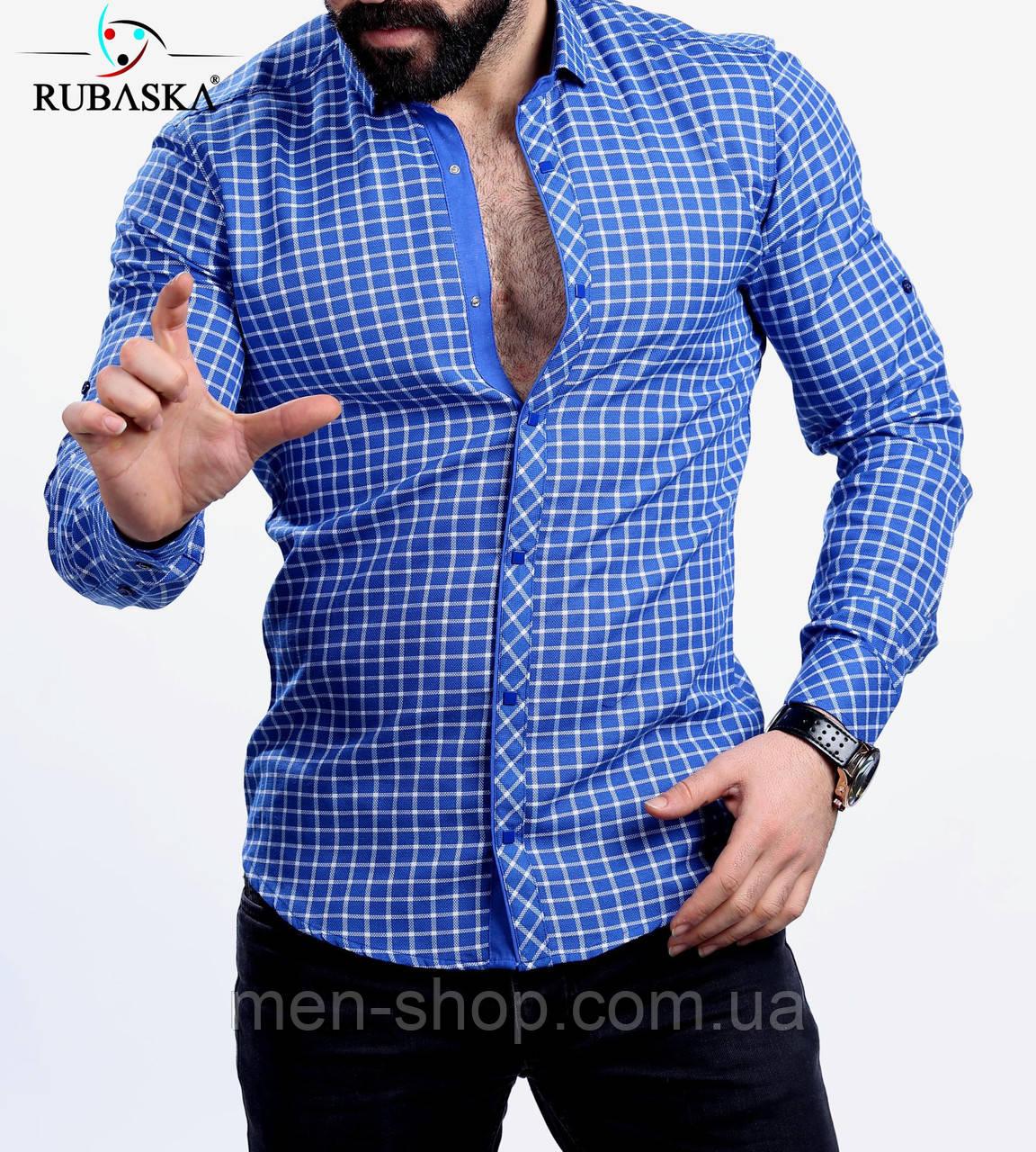 a436078a00cc102 Красивая мужская рубашка в клетку, цена 399 грн., купить в Харькове ...