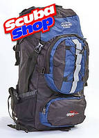 Рюкзак туристический каркасный TREKKING COLOR LIFE 75 л, цвет синий