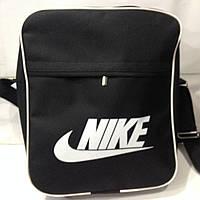 Сумка-планшет Nike ( Найк) черная с белым (28X34CM)  оптом
