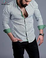 Молодежная мужская рубашка в клетку, фото 1