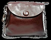 Неповторимая женская сумка из натуральной кожи коричневого цвета SHH-099753