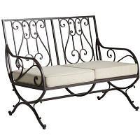 Кованый диван со спинкой в форме арфы