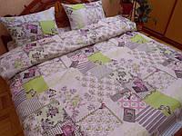 Постельное белье Прованс салат., Белорусская бязь -Семейное с простыню на резинке 180*200*34