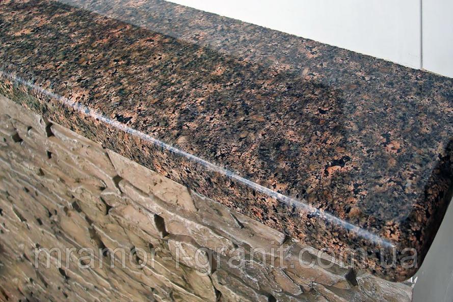 Коричневые подоконники из гранита