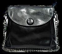 Неповторимая женская сумка из натуральной кожи черного цвета SHH-099755, фото 1