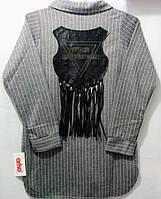 Модная рубашка для девочки 128-164