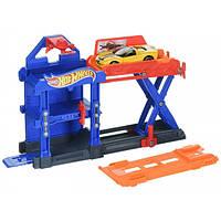 Hot Wheels Игровой набор робо-лифт скорость магазин Robo-Lift Speed Shop DWK99 DWL02