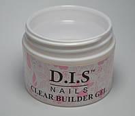 Гель DIS 1-фазный Builder Clear (прозрачный)  30 г.