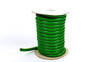 Жгут эластичный для тренировок трубчатый зеленый