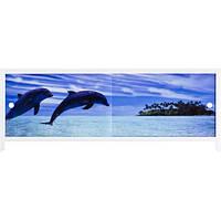 Купить экраны под ванну Дельфины 150