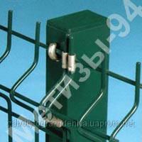 Столб для забора из профильной оцинкованной трубы с полимерным покрытием 60х40х1,5 мм высотой 2,5 м.
