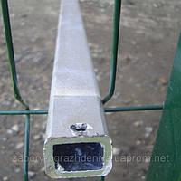 Столб для забора из профильной оцинкованной трубы 40х60х2,0 мм высотой 2,5 м.