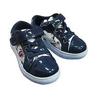 Лаковые кроссовки CBT с принтом для девочек (р.28,30)