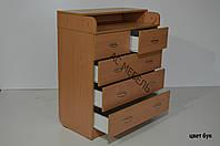 Пеленальный стол модель 3+2 цвет бук