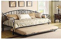 Металлический диван  с дополнительным спальным местом
