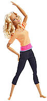 Барби йога двигайся как я Фитнес, Barbie DPP75 Made to Move Doll, Orange Top