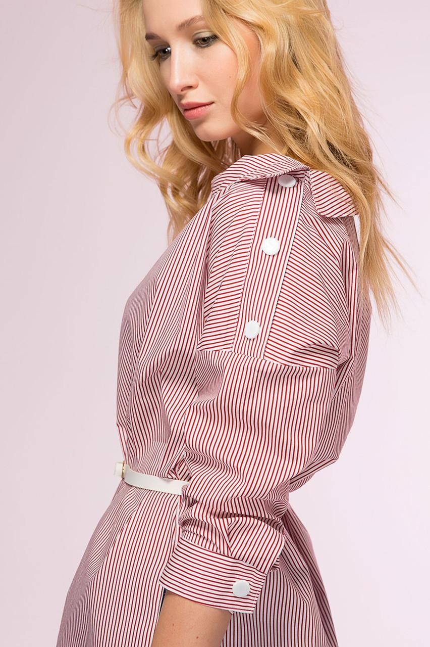 Женская молодежная асимметричная рубашка