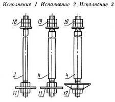 Болты фундаментные с анкерной плитой М16-М48 (тип 2)