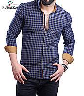 Солидная мужская рубашка в клетку, фото 1