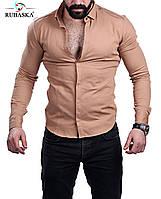 Однотонная мужская рубашка, фото 1
