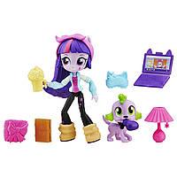 Мини кукла литл пони Искорка, пижамная вечеринка My Little Pony Equestria Girls Minis Twilight Sparkle