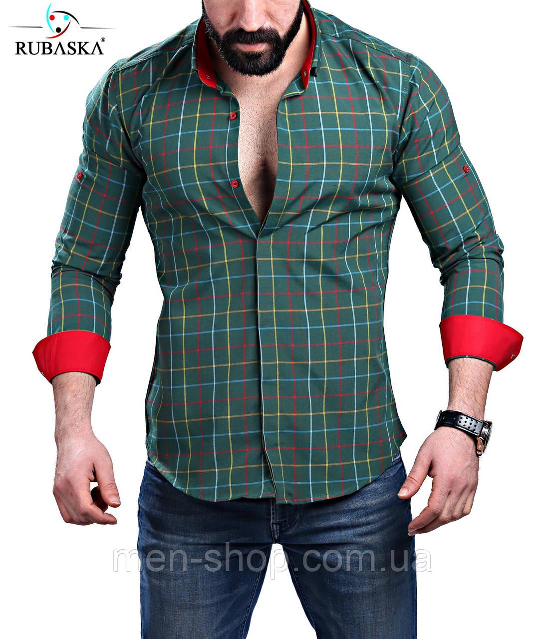 Супермодная мужская рубашка в клетку