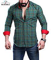 Супермодная мужская рубашка в клетку, фото 1