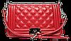 Неповторимая женская стеганая сумочка из искусственной кожи красного цвета DDO-002318