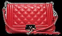 Неповторимая женская стеганая сумочка из искусственной кожи красного цвета DDO-002318, фото 1